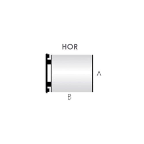 A.- Horizontal