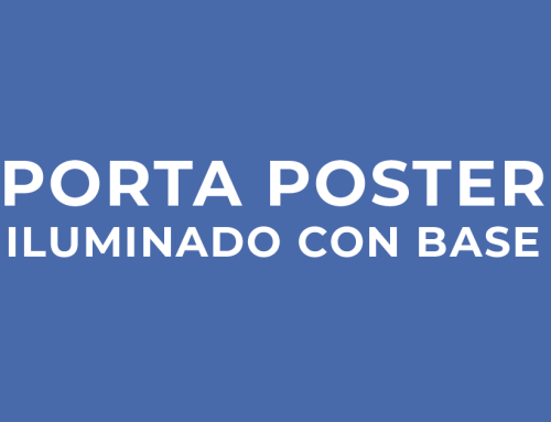 PIC | Porta Poster Iluminado Con Base